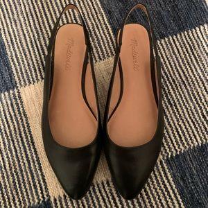 New Madewell leather slingbacks sz 7